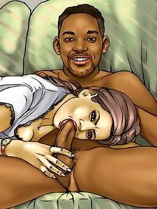 Sex-crazed celebs fuck on porn comics.